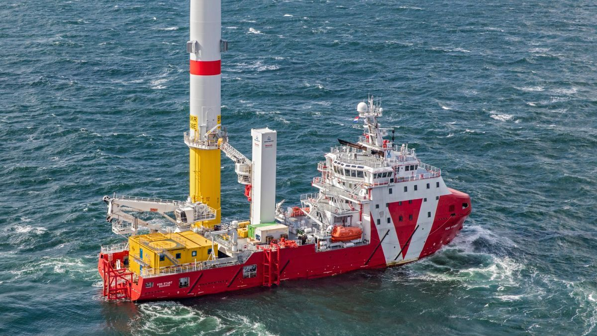 Strong growth in renewables will generate vessel utilisation for OSVs such as VOS Start (source: VOS)
