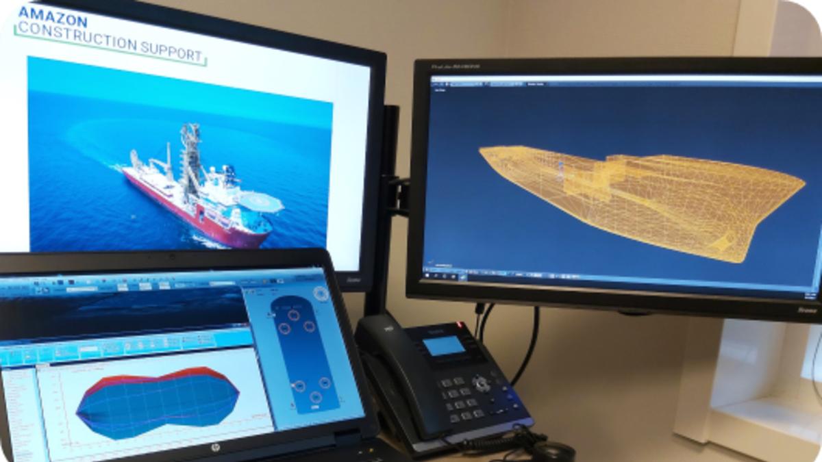 Simwave will build a simulation model for the DP2 construction vessel Amazon (source: Simwave)