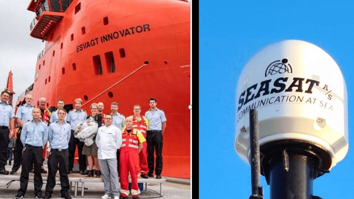 Esvagt Innovator crew used Flex45 and Seasat VSAT for connectivity (source: Intelsat)
