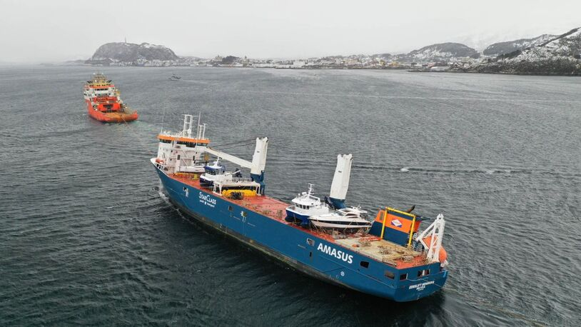 Video: stricken heavy-lift vessel off Norway towed to port