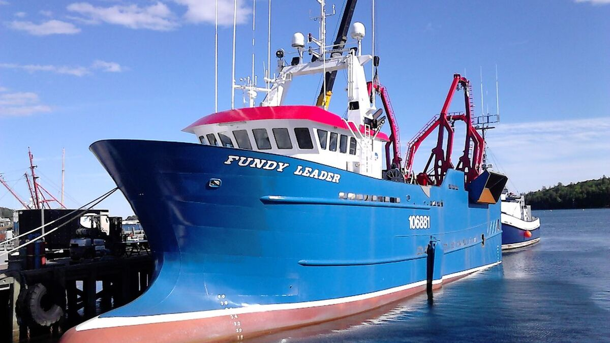 Fundy Leader fisheries research vessel operated by Clearwater Seafood (source: Clearwater)
