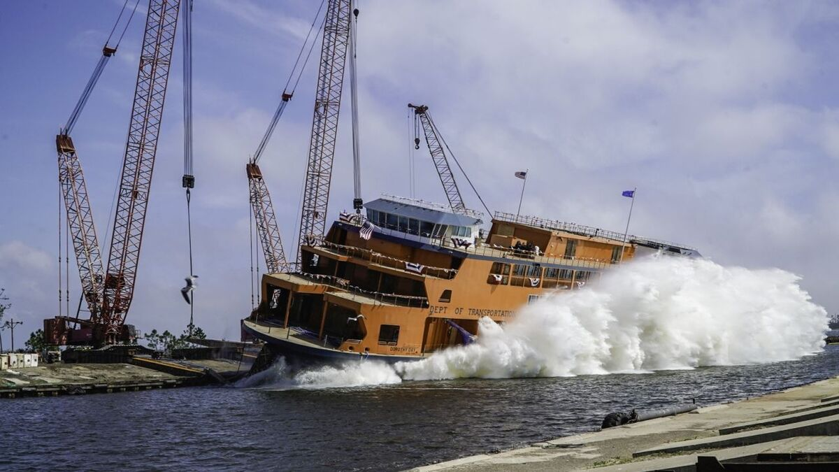 Eastern Shipbuilding has launched Staten Island's third new ferry