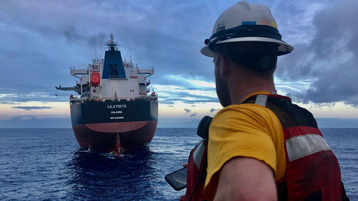 Salvors protect life at sea: Lila Tokyo salvage operations (source: Tsavliris)