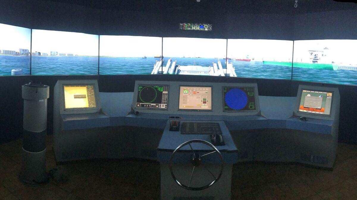 MTI training ship bridge simulator in Karachi Pakistan (source: MTI)