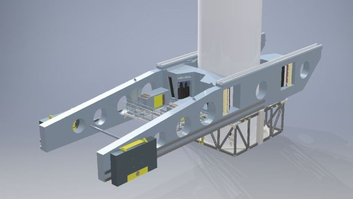 SkyWalker is based on the use of a heave-compensated winch attached to the tower of a wind turbine
