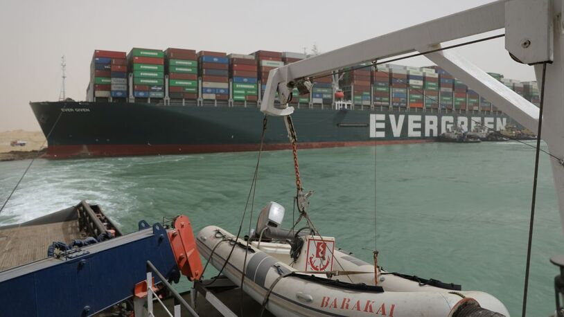 Ever Given container ship under arrest in Suez Canal