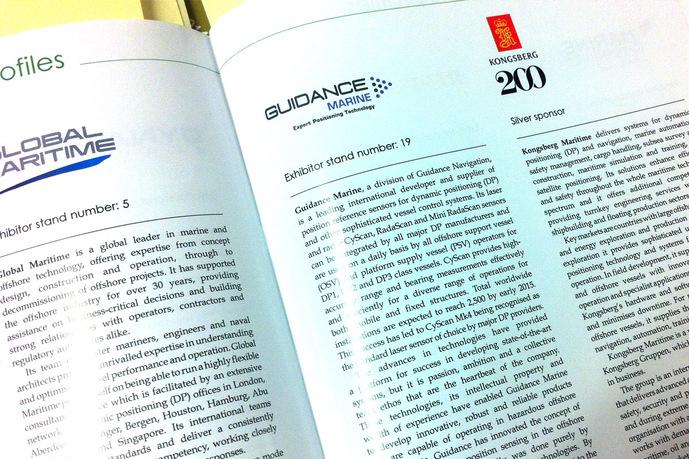Half page corporate entry in Handbook