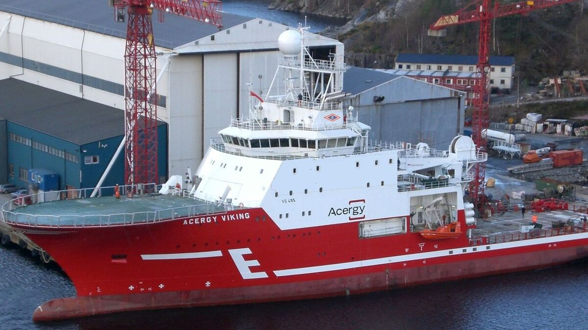 Acergy Viking will be more fuel efficeint and produce less CO2 when the battery-hybrid system has been installed