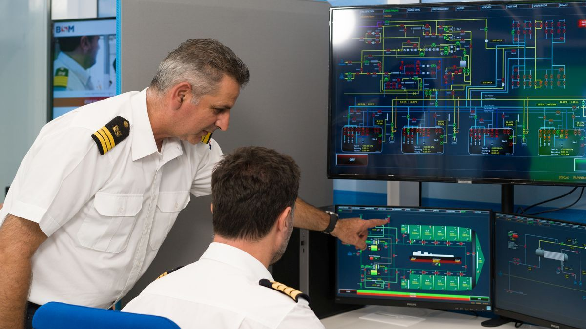 BSM's Liquid Cargo Simulator delivers realistic training for LNG and gas carrier crew (source: BSM)