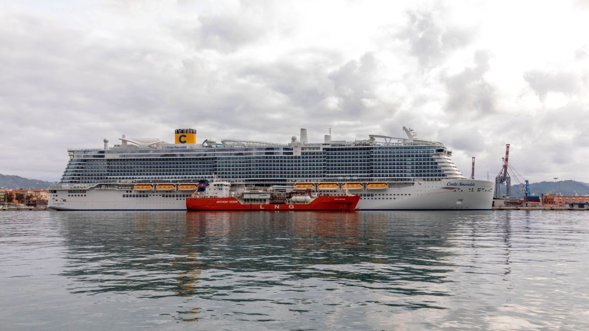 The growing number of LNG-fuelled vessels in the region, such as Costa Smeralda, will be supported by expanding ssLNG bunkering infrastructure (source: Costa Cruises)