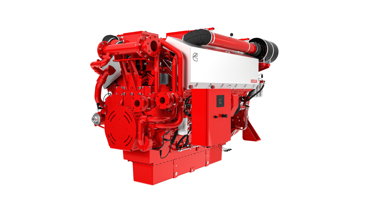 Cummins-QSK60-T4 fitted with SCR will enable tug, towboat, OSV and passenger vessel owners comply with EPA Tier 4 and IMO Tier III regulations (source: Cummins)