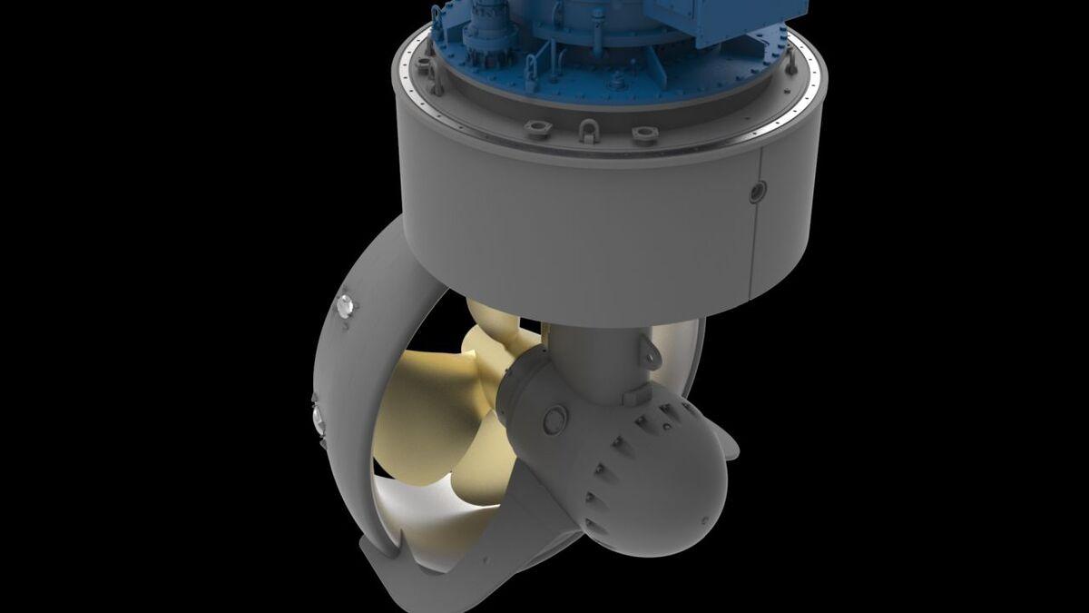 Kongsberg's thruster propulsion for ASD configuration on tugs (source: Kongsberg)