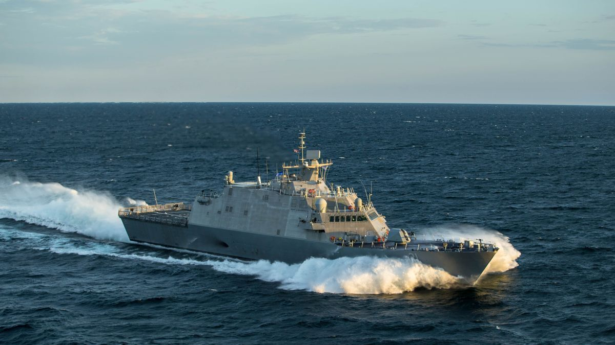 Two 16PA6B diesel engines and two Rolls-Royce gas turbines power the Freedom-class Littoral Combat Ship (LCS) (source: Lockheed Martin)
