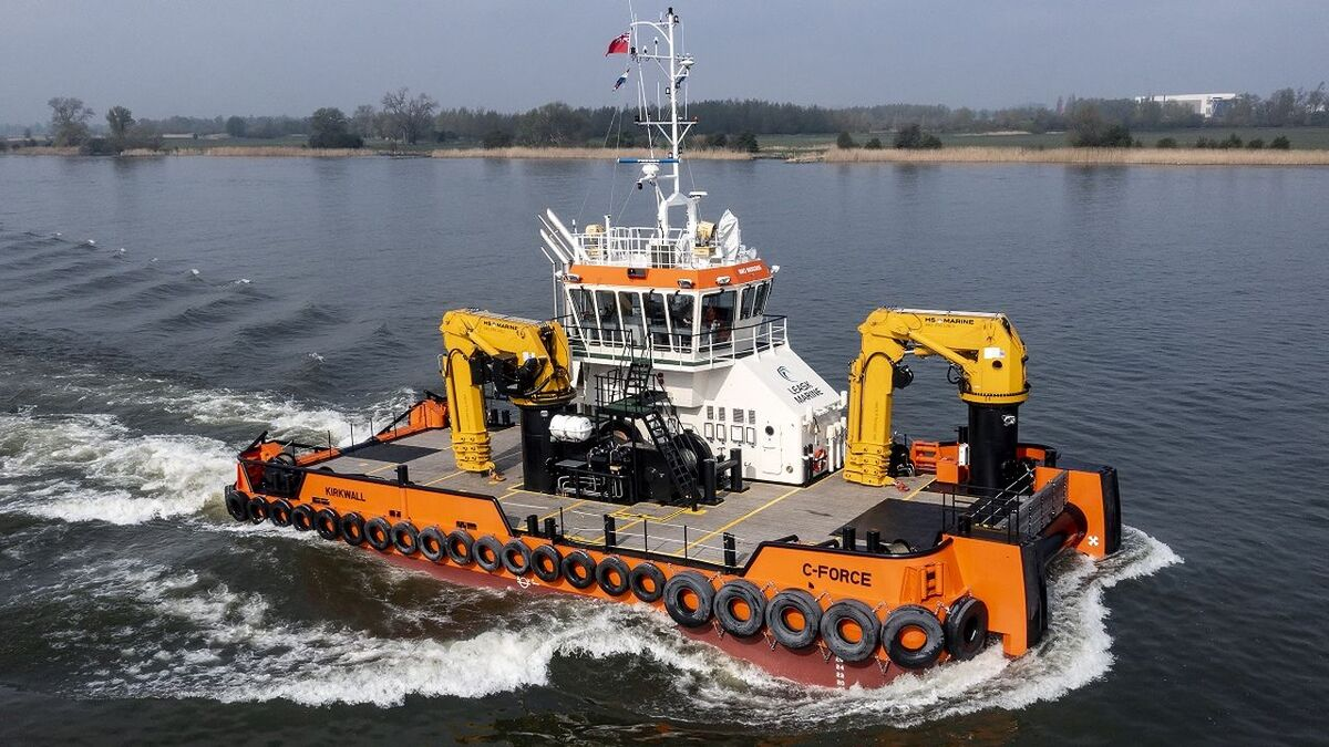 Multi Cat 2712 C-Force was adapted by Damen for Leask Marine (source: Damen)