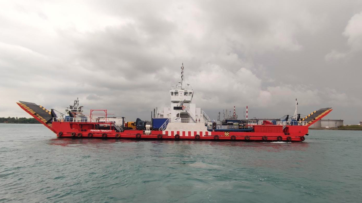 The roro vessel Penguin Tenacity will be fitted with a PEM hydrogen fuel cell as part of a trial (source: Penguin)