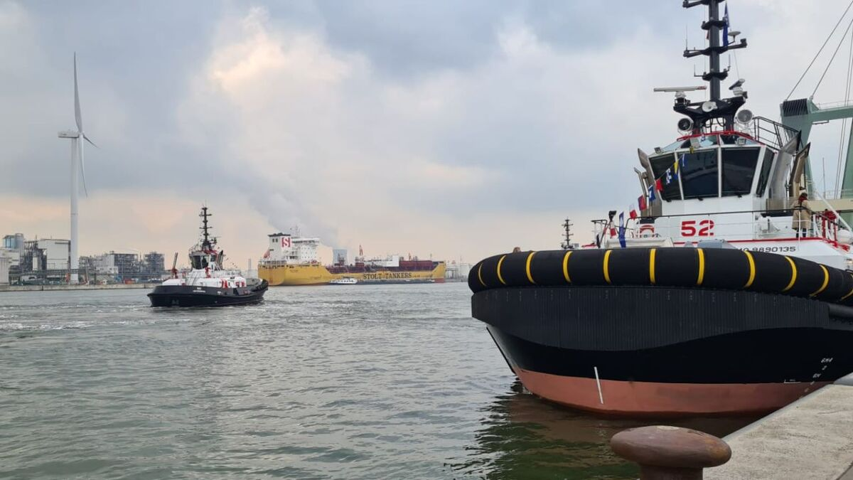 Port of Antwerp's new Damen-built RSD tug is IMO Tier III compliant (source: Port of Antwerp)