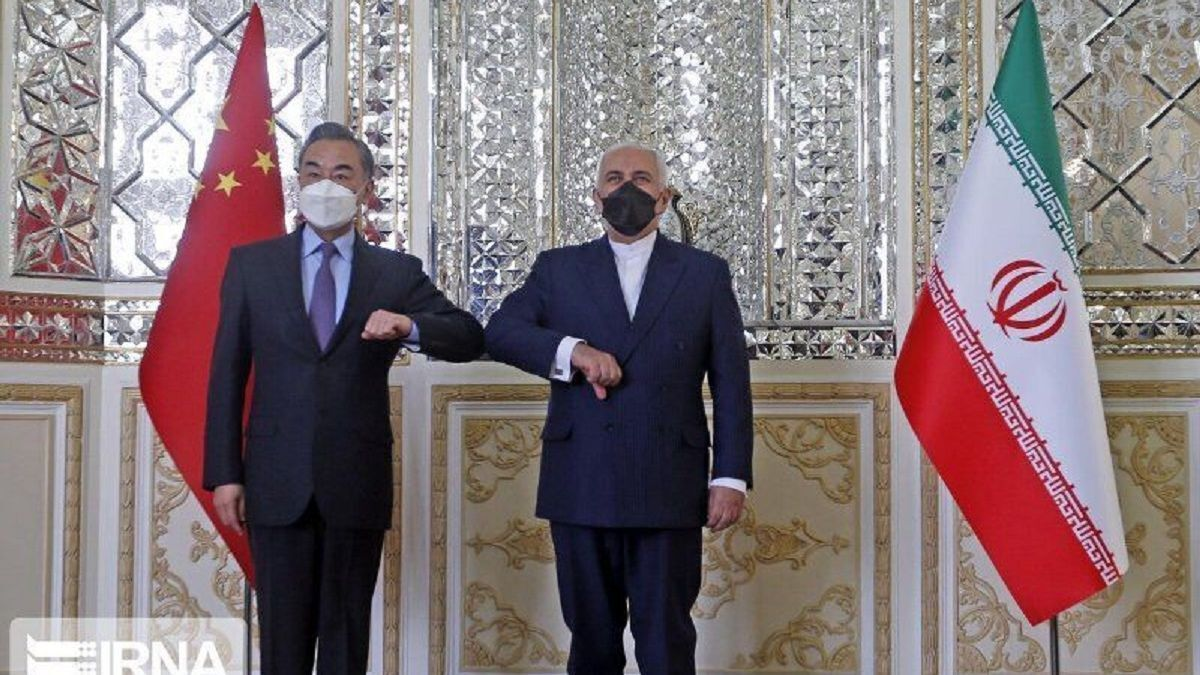 The US$400Bn elbow bump: The foreign ministers of Iran and China sign agreement (source: IRNA)