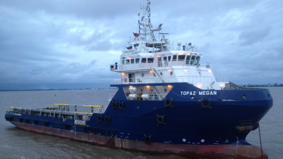 Topaz Megan is one of three Topaz Daughter-class PSVs that will work in Qatar for at least three years (source: P&O Maritime)