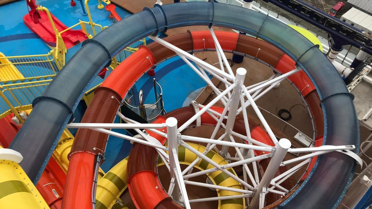 Mardi Gras has the largest aqua park in the fleet