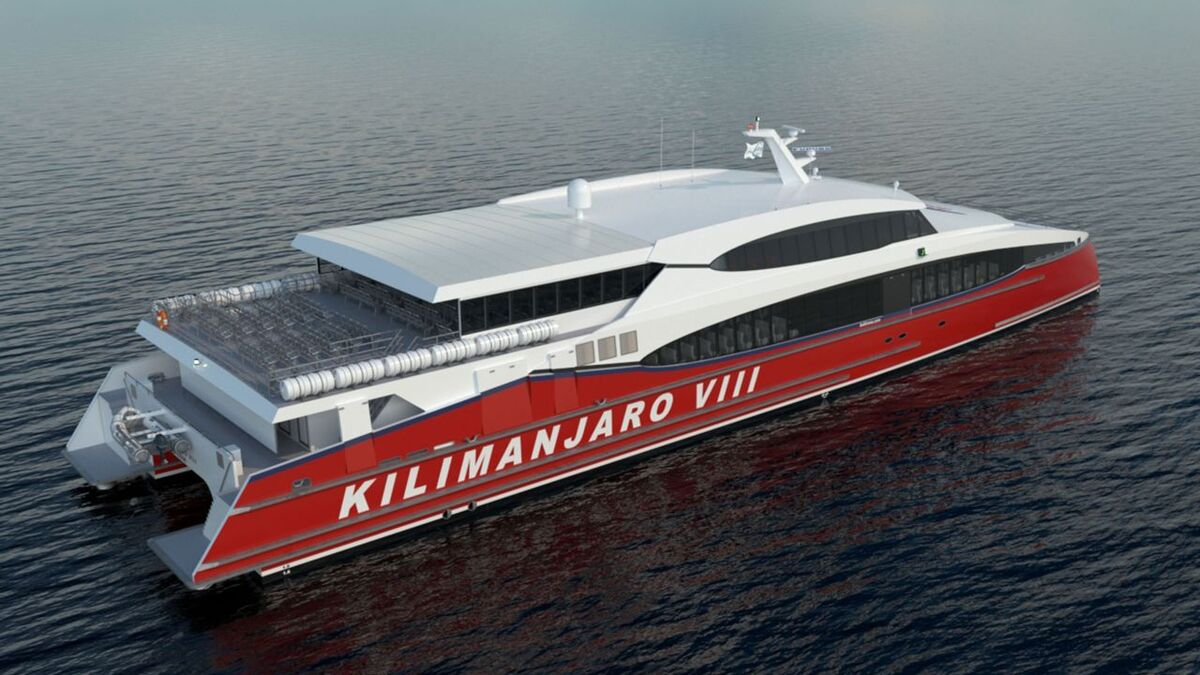 Incat Crowther is to design a 53-m catamaran for Azam Marine (source: Incat Crowther)