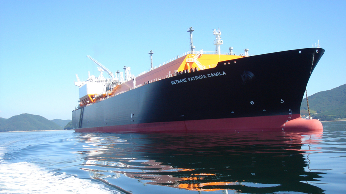Methane Patricia Camila was fitted with an air lubrication system at Sembcorp Marine (source: Silverstream Technologies)
