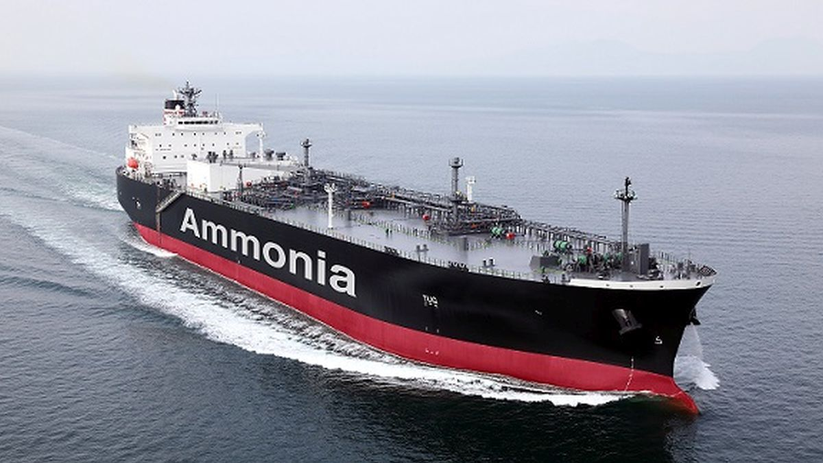 In the size and power equation, ammonia as a marine fuel suits the larger vessels (source: NYK Line)