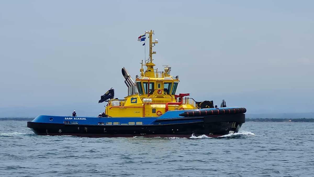SAAM Acaxual escort tug arrives in El Salvador for SAAM Towage (source: SAAM)