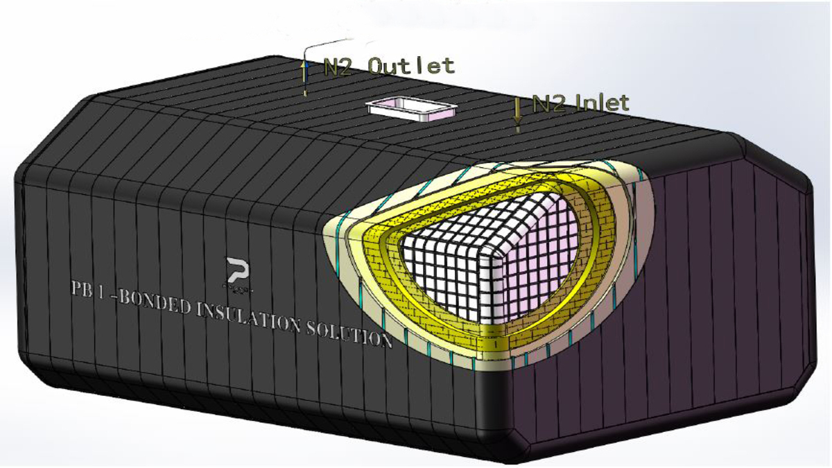 3D model of the LNG fuel tank insulation system (Image: PASSER Marine)