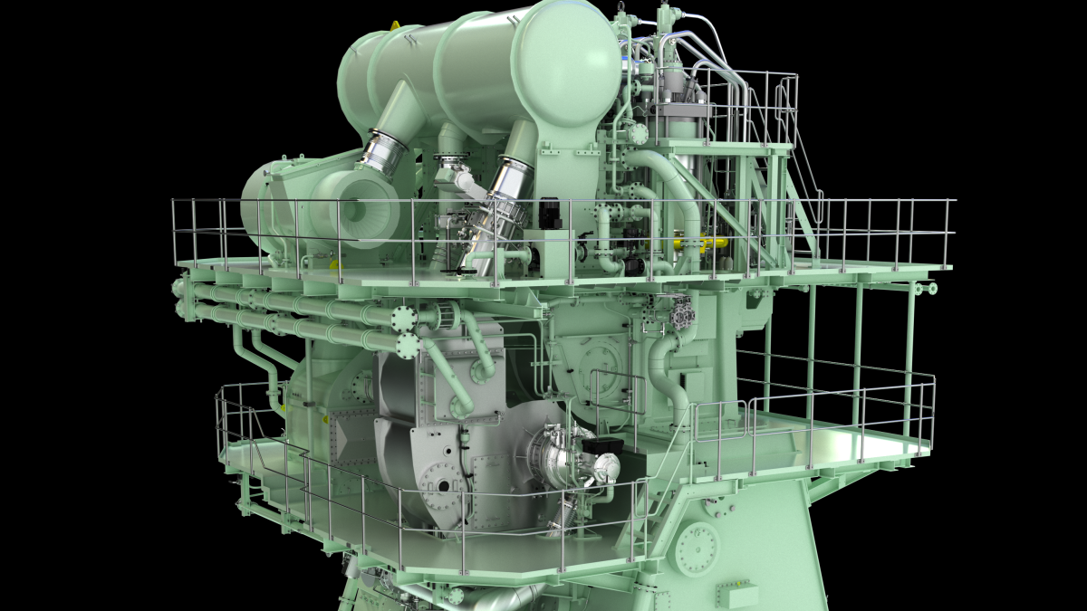 MAN Energy Solutions' ME-GA two-stroke, Otto-cycle dual-fuel engine will be delivered in early 2022 (source: MAN Energy Solutions)