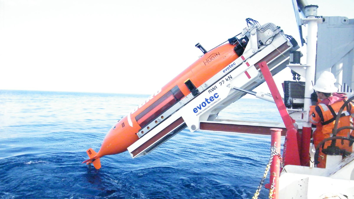 Fugro can deploy its advanced AUV from multipurpose research vessel Kobi Ruegg (source: Fugro)