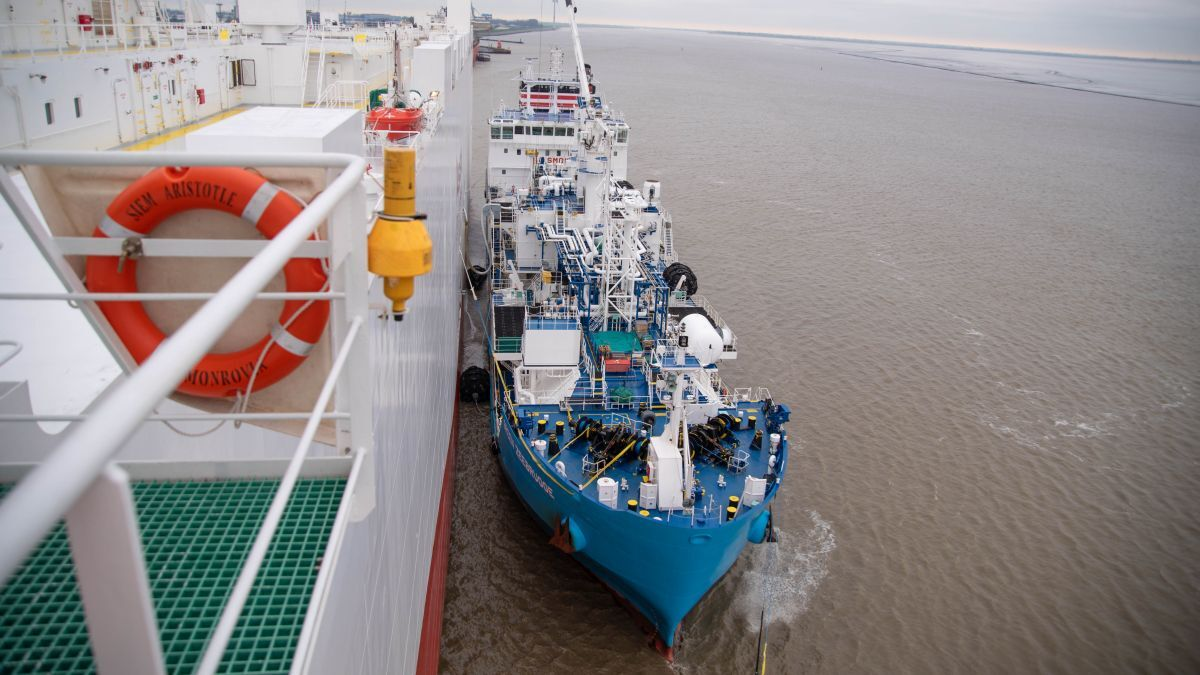 Operating in northwest Europe, Green Zeebrugge is one of 31 LNG bunker vessels in the global fleet (source: Liberian Registry)