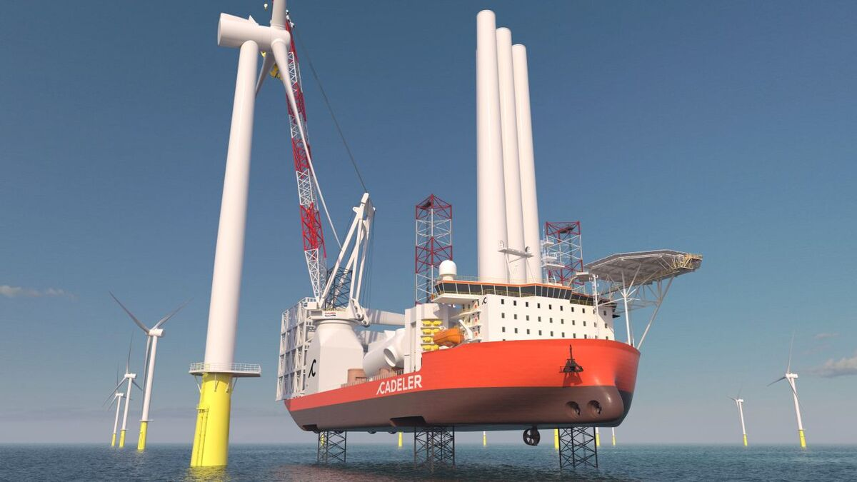 Cadeler's X-class vessels are based on the Gusto NG-20000XL and will have a crane capacity of 2,000 tonnes at 53 m outreach