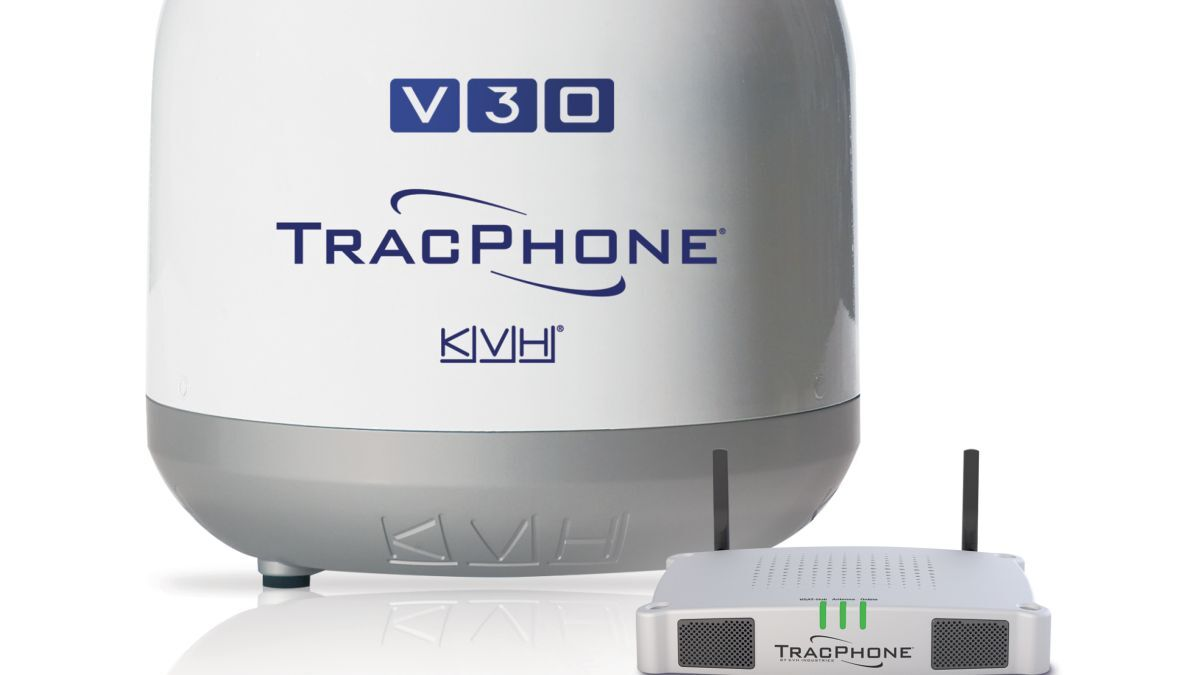 KVH's TracPhoneV30 antenna enables data speeds up to 6 Mbps (source: KVH)