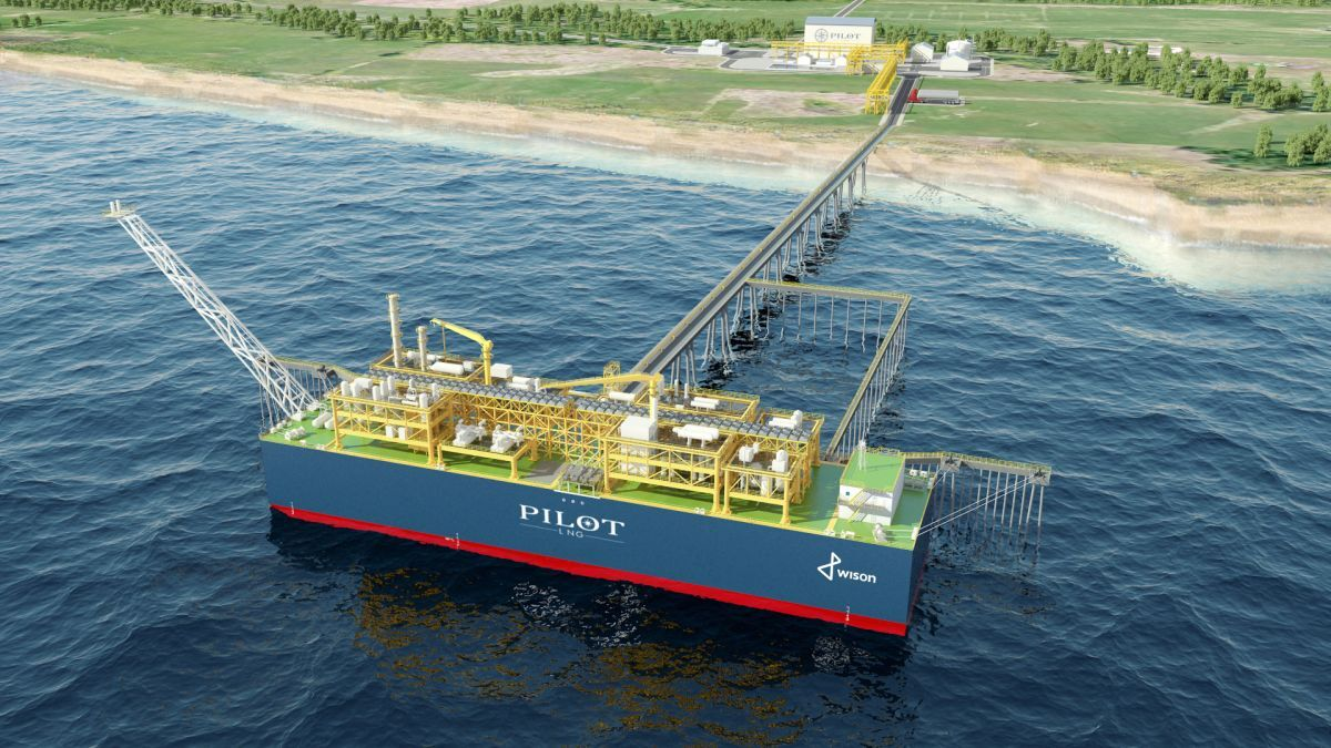 Permanently moored, Pilot LNG's FLNG vessel will have a liquefaction capacity of 0.5 mta, with storage of 18,000 m3 (source: Pilot LNG)