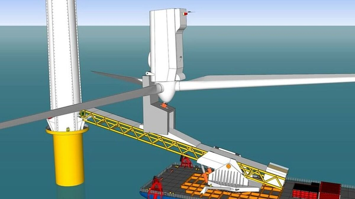 Self-erecting nacelle installation and service system successfully tested