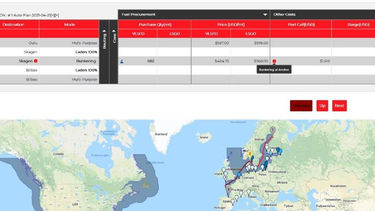 BunkerPlanner dashboard now includes Inchcape's World of Ports data (source: BunkerMetric)