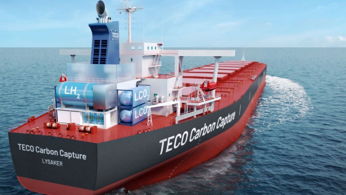 Carbon capture and storage technology could cut carbon emissions by 30-40% per year on an 'average capesize ship' (source: TECO 2030)