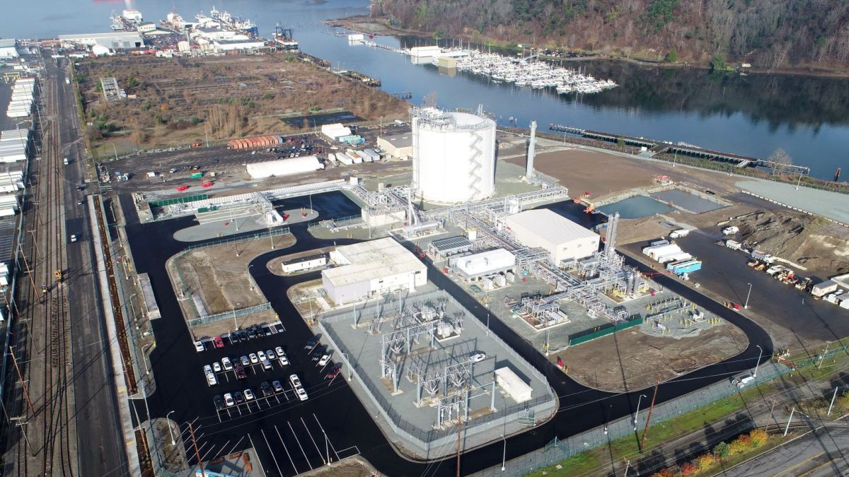 The new Tacoma LNG terminal is looking to secure an LNG bunker barge to support refuelling operations (source: Puget LNG)