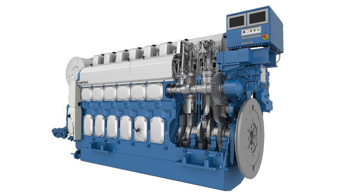 The Wärtsilä 20 engine fitted with a NOx reducer is undergoing certification testing for compliance with China's Stage II emissions standard (source: Wärtsilä)