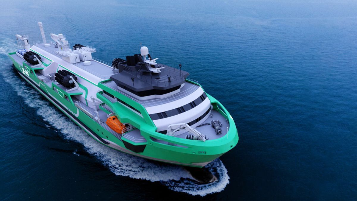 The flagship LNG bunker vessel in Knud E Hansen's X-gas Project will have an Ice-class 1A notation (source: Knud E Hansen)