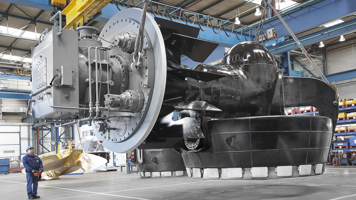 Two Schottel Rudderpropellers will be installed on a new KPA tug (Image: Schottel)