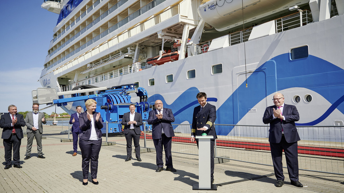 Europe's largest shore-power centre opens in Germany (Source: AIDA Cruises)