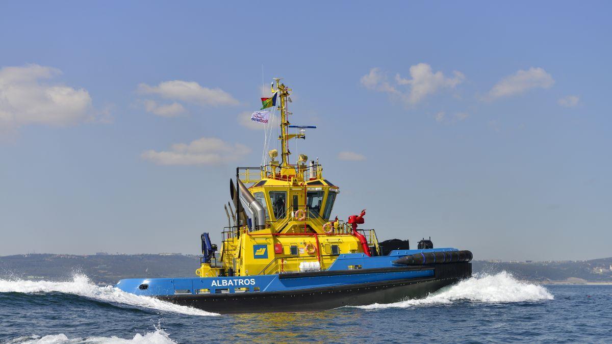 Albatros was built by Sanmar as a Bogacay-class tugboat (source: Sanmar)