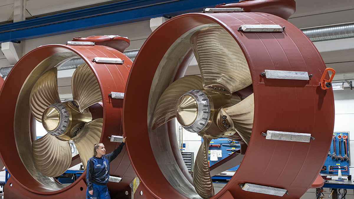 Van Oord's new cable-layer will have two 2,500-kW Brunvoll azimuth thrusters (source: Brunvoll)