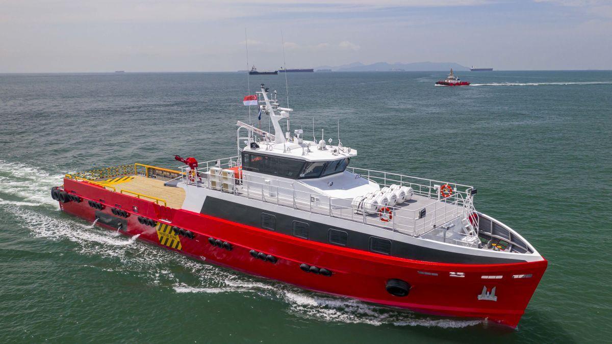 Malaysia's Centus Marine has ordered two 42-m fast crew boats from Strategic Marine (source: Strategic Marine)