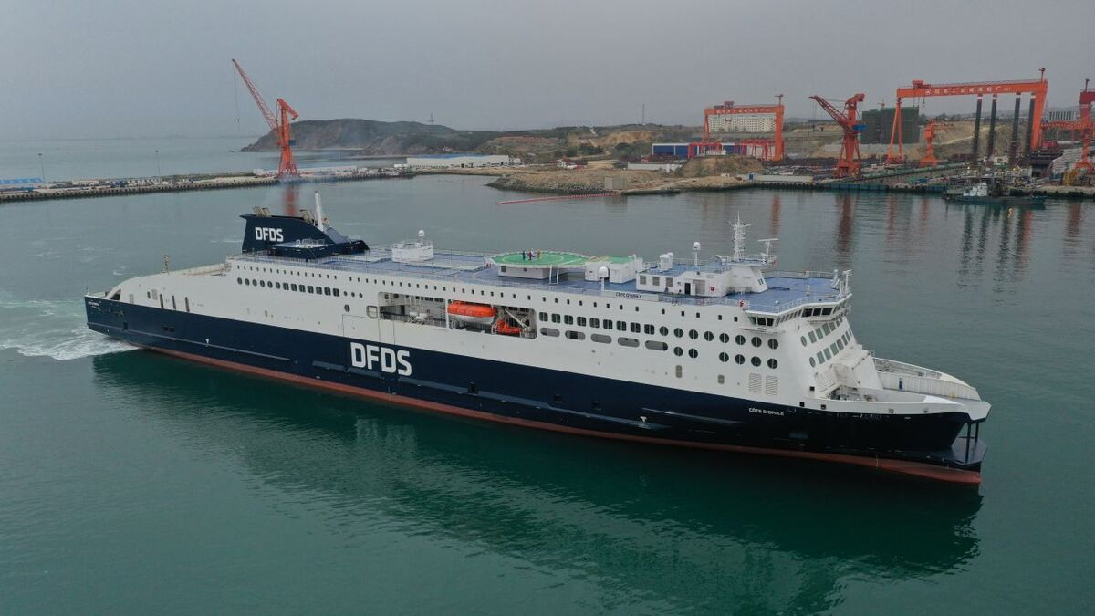 DFDS' new ferry Côte d'Opale delivered