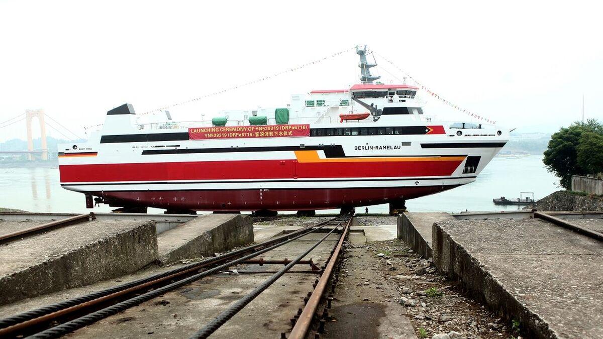 Berlin-Ramelau has been launched by Damen for APORTIL (source: Damen)