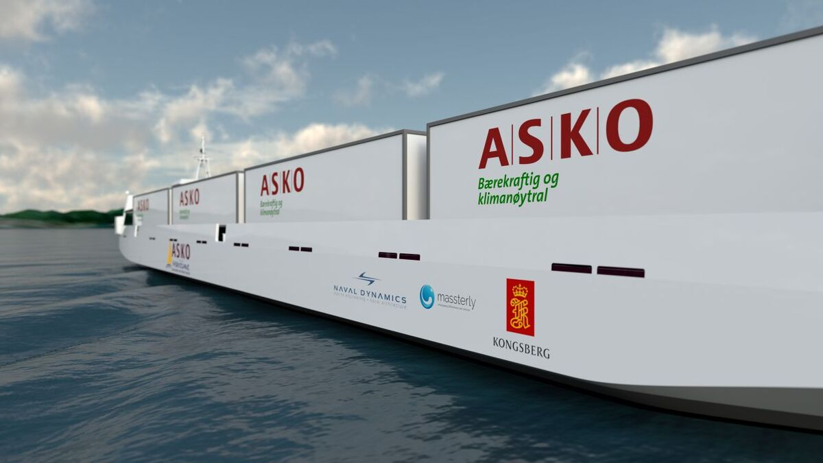 Design of an Asko unmanned ship to sail in Norwegian waters (source: Asko)