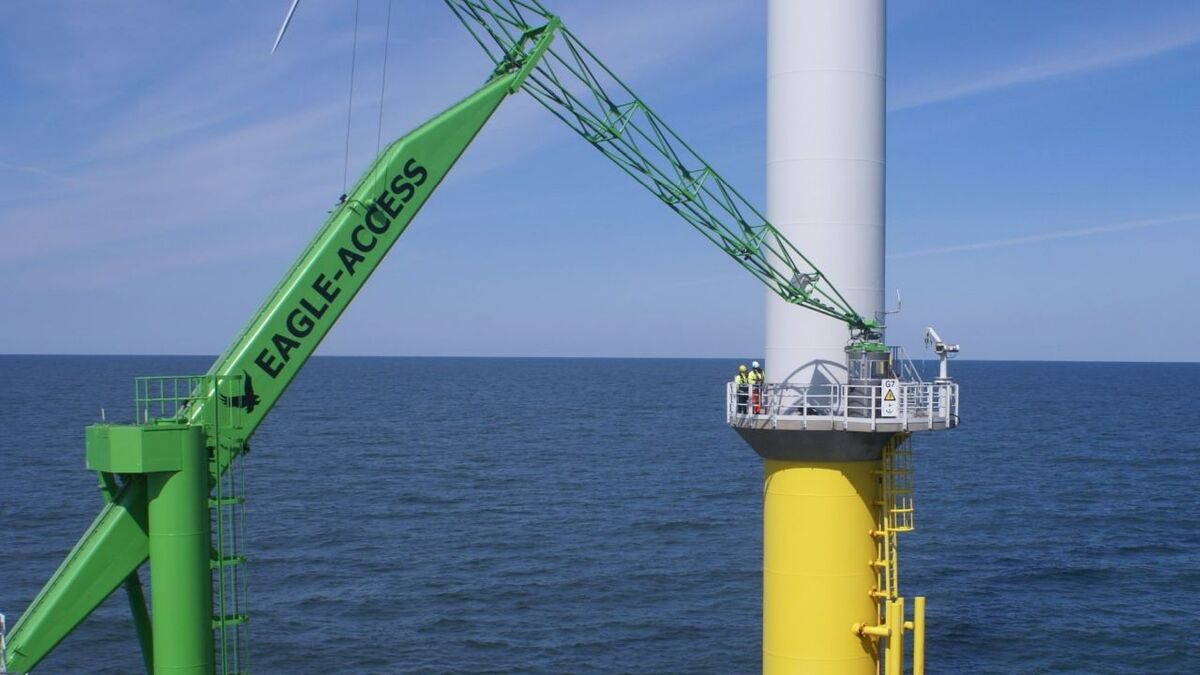 The Eagle was developed to transfer people and cargo to unmanned or manned offshore platforms