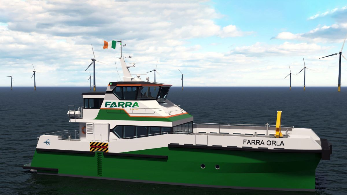 Ireland's Farra Marine is building two Windflex-27 crew transfer vessels for the Irish windfarm market (source: Incat Crowther)
